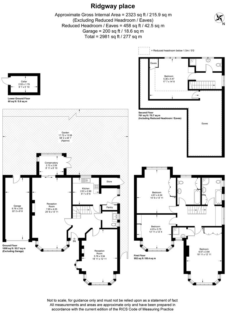 Floorplan for Ridgway Place, Wimbledon Village